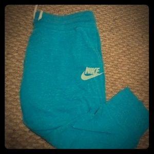 Blue Nike capris